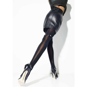 GIRARDI/ジラルディ 送料無料 HENRIETTE(ヘンリエッタ) ストッキング タイツ リボン 編み上げ 50デニール GI004|premium-lingerie