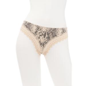 TWIN-SET / ツインセット (セール) (Tポイント5倍) 送料無料 PRINT ショーツ TW008OR プリント ベージュ|premium-lingerie