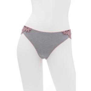 50%OFF (SALE セール) TWIN-SET/ツインセット  LACE タンガ TW022GR グレー ピンク|premium-lingerie