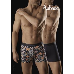 オーバドゥ パンツ 下着 Aubade 2017SS aubadeMEN メンズボクサーショーツ AuM002 XB53M プリント 紺 インポート フランス ギフト プレゼント インポートランジ|premium-lingerie