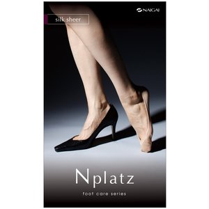 N-PLATZ フットケア フットカバー(シルク混)かかと滑り止め付 (送料無料) LEG003 03060101|premium-lingerie