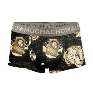 (父の日 ギフト) ボクサーパンツ S M L MUCHACHOMALO/ムチャチョマーロ  メンズ ボクサー ショート ショーツ Mc021 3020WILDLF02 プリント下着 前開き ワイルド|premium-lingerie