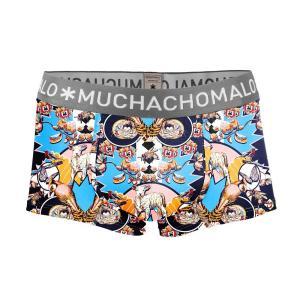 (父の日 ギフト) ボクサーパンツ S M L MUCHACHOMALO/ムチャチョマーロ  メンズ ボクサー ショート ショーツ Mc023 3020SEASON02 プリント下着 前開き ワイルド premium-lingerie