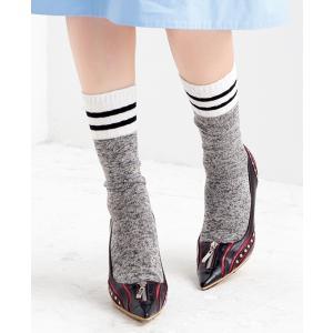 N-PLATZ 婦人 レディース TOPボーダークルー靴下 LEG025 03082307 ナイガイ 靴下 ソックス レディース 女性|premium-lingerie