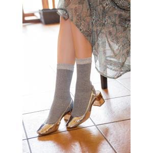 N-PLATZ 婦人 レディース ミックスリブクルーソックス/靴下 LEG027 03082318 ナイガイ 靴下 ソックス レディース|premium-lingerie