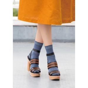 N-PLATZ 婦人 レディース レーヨンリネンクルーソックス靴下 LEG028 03082324 ナイガイ 靴下 ソックス レディー|premium-lingerie