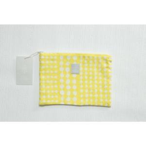 Kayo Aoyama/青山佳世 送料無料 テキスタイル柄 北欧風 ポーチ 4dice/黄色 ZA010|premium-lingerie