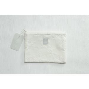 Kayo Aoyama/青山佳世 テキスタイル柄 北欧風 ポーチ 8nordic forest WH/ホワイト ZA014|premium-lingerie