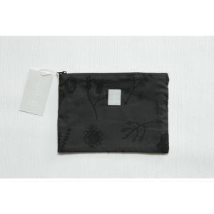 Kayo Aoyama/青山佳世 テキスタイル柄 北欧風 ポーチ 10nordic forestBK/ブラック ZA015|premium-lingerie