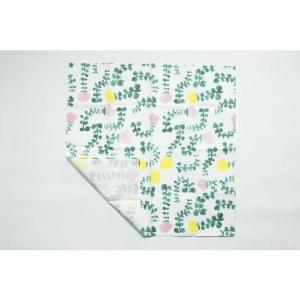 Kayo Aoyama/青山佳世 テキスタイル柄 北欧風 花柄 ハンカチ 1garden/ホワイト ZA017|premium-lingerie