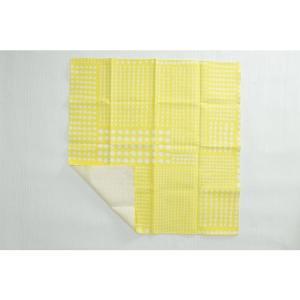Kayo Aoyama/青山佳世 テキスタイル柄 北欧風 ハンカチ 7dice/黄色 ZA023|premium-lingerie