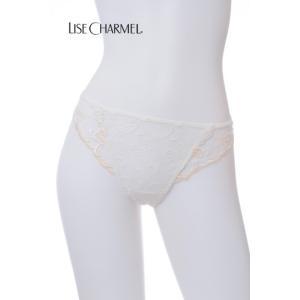 国内正規品 送料無料(40%OFFセール) SMLサイズ リズシャルメル/LISE CHARMEL タンガ Lc264ON/ACC0028 ギピュールのきらめき ショーツ 白 0(S) 1(M)|premium-lingerie