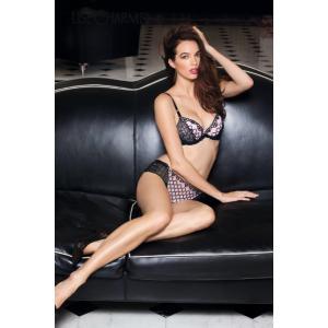 送料無料(40%OFFセール) Cカップ リズシャルメル/LISE CHARMEL モールドパテッドブラジャー Lc238AR/ACC8585 私は告白する 黒 ピンク|premium-lingerie