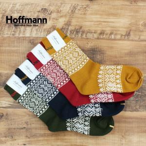 ホフマン Hoffmann レディース 靴下 ソックス コットン スノー柄 国産 日本製 おしゃれ プレゼント ギフト 7974 Ho060 04ネイビー 07イエロー 10レッド 28モスグ|premium-lingerie