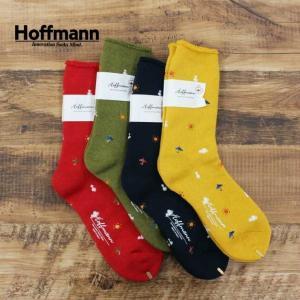 ホフマン Hoffmann レディース 靴下 ソックス オーガニック コットン ウール パイル 厚地 空模様 国産 日本製 おしゃれ プレゼント ギフト 7994 Ho068 04ネイビ|premium-lingerie
