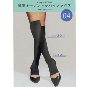 ナイガイ NAIGAI 着圧靴下 靴下 ソックス 着圧ソックス オープントゥ ハイソックス 着圧 ハイパー 血流改善 むくみ むくみ改善 足の疲れ 履き口 やわらか ビジネ|premium-lingerie