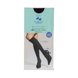 ナイガイ NAIGAI 着圧靴下 靴下  着圧 ソックス ハイソックス ハイパワー むくみ むくみ改善 血流改善 足の疲れ 履き口 やわらか ビジネス オフィス 働く女性 ス|premium-lingerie