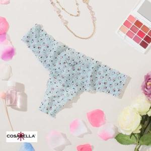 コサベラ cosabella タンガ Tバック レディース ショーツ 下着 プチプラ 小花柄 花柄 レース ラブリー パンツ プレゼント Co024 PJJOLIP0321 S 水色 ライトブル|premium-lingerie