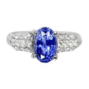 非加熱サファイア約3ct ダイヤモンド0.4ct プラチナ リング(指輪)【品質保証書/GRS鑑別書付】|premium-outlet