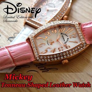 Disneyミッキートノー型腕時計(DISNEY,ウォッチ,レディース,本革ベルト,,クラッシック腕時計,ジュエリーウォッチ,ギフト腕時計,DISNEY公式ライセンス)|premium-pony