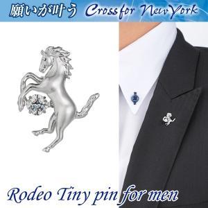 クロスフォーニューヨークフォーメン「ダンシングストーンタイニーピン/Rodeoロデオ」(CrossforNewYork 揺れるダイヤ)|premium-pony
