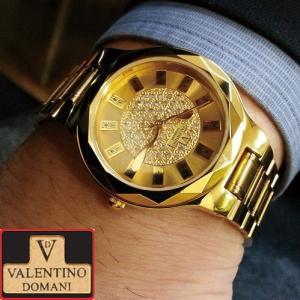 VDヴァレンチノ・ドマーニ「サクセスGOLD金来双蛇ウォッチ52ダイヤモンドSP」(VALENTINO DOMANI/メンズ/腕時計/開運/金運)|premium-pony|02
