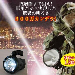 JOHN LITE社製充電式LEDスーパービームライト(災害時,防災,キャンプ,LEDライト,手回し発電,300万カンデラ,キャンプ,軍採用.灯台よりも明るい)|premium-pony
