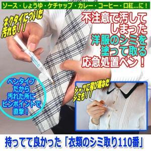 持ってて良かった「衣類のシミ取り110番」(外出時 シャツ ネクタイ ピンポイント 繊維 ペンタイプ ソース しょうゆ ケチャップ ) premium-pony