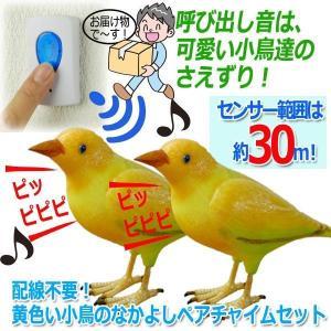配線不要!好きな所に呼び出しチャイムが2つ設置できて便利!!  呼び出し音は、可愛い小鳥達のさえずり...