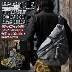 DEVICE C.Eトライアングルボディフィットバッグ[HHB] (デバイス,メンズ,BAG,ボディバッグ,リュックサック,ワンショルダー,ケミカルウォッシュ) premium-pony