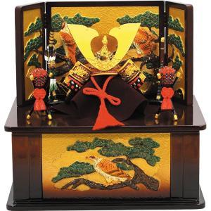 五月人形出世兜大赤収納飾り茶 (卓上五月人形,ミニ五月人形,端午の節句,卓上サイズ,鎧兜,男の子の節句,初節句,5月5日)|premium-pony