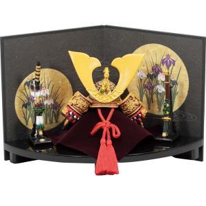 五月人形兜大赤扇台飾り和紙屏風 (卓上五月人形,ミニ五月人形...