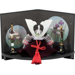 五月人形兜大銀扇台飾り和紙屏風 (卓上五月人形,ミニ五月人形,端午の節句,卓上サイズ,鎧兜,男の子の節句,初節句,5月5日)|premium-pony
