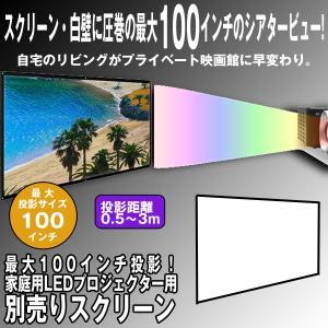 最大100インチ投影!家庭用LEDプロジェクター用「別売りスクリーン」 (大画面,シアター,DVD,ブルーレイ,映画館,120x216cm)|premium-pony