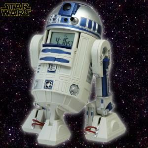 STAR WARS R2-D2 サウンド&ムービングアラームクロック(スターウォーズ/目覚まし時計/アクション/回転/音/LEDライト/光)|premium-pony