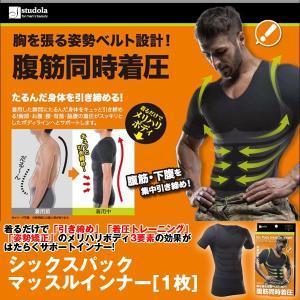 シックスパック マッスルインナー「1枚」 (メンズ,Tシャツ,ダイエットインナー,加圧シャツ,着圧,姿勢矯正,半袖,引き締め,エクササイズ,加圧下着)|premium-pony
