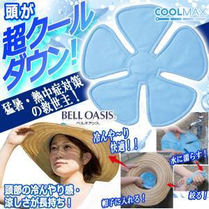 何度でも頭が冷んやり涼しい!ヘッドクール (帽子 ヘルメット 熱中症対策 冷却 冷感 涼しい スポー...