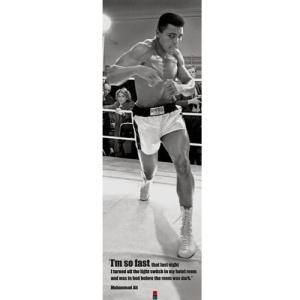 追悼モハメドアリ名場面ポスター(ロング)(ボクシング元世界ヘビー級チャンピオン,異種格闘技戦,炎のファイター,アリ・ボマイエ)|premium-pony