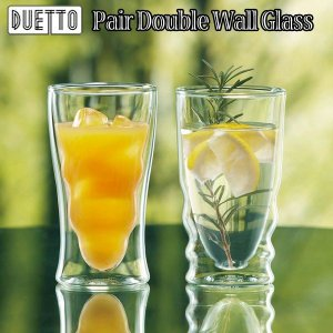 DUETTOペアダブルウォールグラス(ガラスのコップ グラス ペアグラス お祝いギフト ペア食器 3000円台のギフト食器 ウォータグラス ) premium-pony