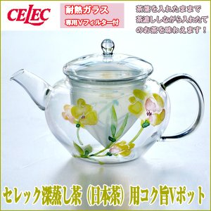 セレック深蒸し茶(日本茶)用コク旨Vポット (耐熱食器 透明 耐熱ガラス 紅茶 日本茶 ハーブティー 母の日 ギフト おすすめ母の日) premium-pony