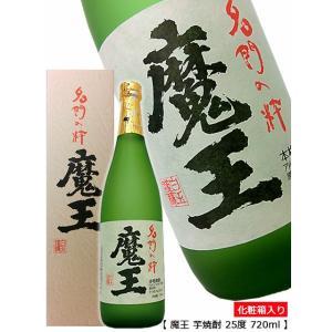 化粧箱の魔王の文字が貫禄あります。   商 品 名:魔王(まおう)720ml 酒  別:芋焼酎 原材...