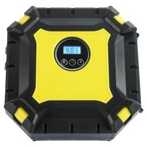 車用空気入れ エアコンプレッサー 自動車 電動ポンプ DC12V 小型 LEDライト付き 自動停止 配線収納機能付き 自転車 バイク ボール