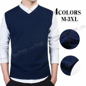 ニットベスト メンズ セーター オフィス かっこいい ビジネス インナープルオーバー カットソー 袖...