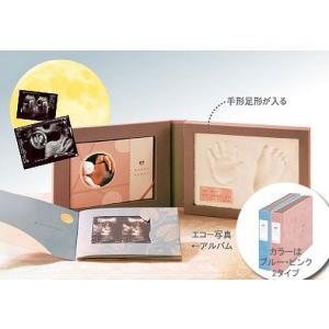 出産祝い絵本 手作りアルバム エコー写真アルバム 手形足形 10ツキ10カ メモリアル|presentehon