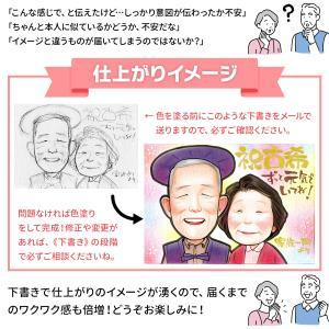 米寿のお祝い 米寿祝い プレゼント 記念品 男性 女性 祖父 祖母 傘寿のお祝いの品 80歳 名入れ 父 母 両親 88歳 傘寿祝い「そっくりで面白かわいい似顔絵」|presentnet|05