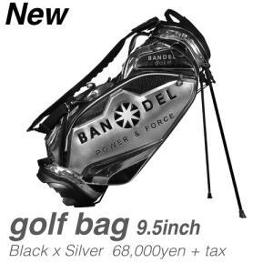 バンデル BANDEL バンデルゴルフ キャディーバック 9.5インチ BANDELGOLF Golf Bag004 ブラック/シルバー 送料無料 prestige-webstore