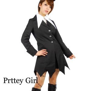 ゴシックロングジャケット ハロウィン ゴスロリ コスプレ|prettygirl