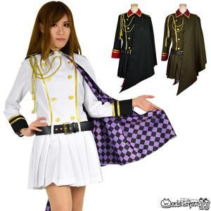 8mm/軍服 マント付きミリタリーワンピース  カラー2色 コスプレ 衣装 制服 仮装|prettygirl