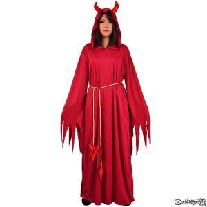 赤い悪魔 ユニセックス 簡単 レッドデビル 男女兼用 コスプレ 仮装 ハロウィン 赤 悪魔 デビル 鬼 prettygirl