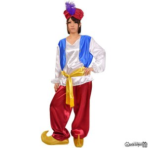アラビアン コスチューム メンズ ユニセックス ハロウィン コスプレ 仮装 ハロウィン 砂漠 魔法のランプ 魔人 prettygirl